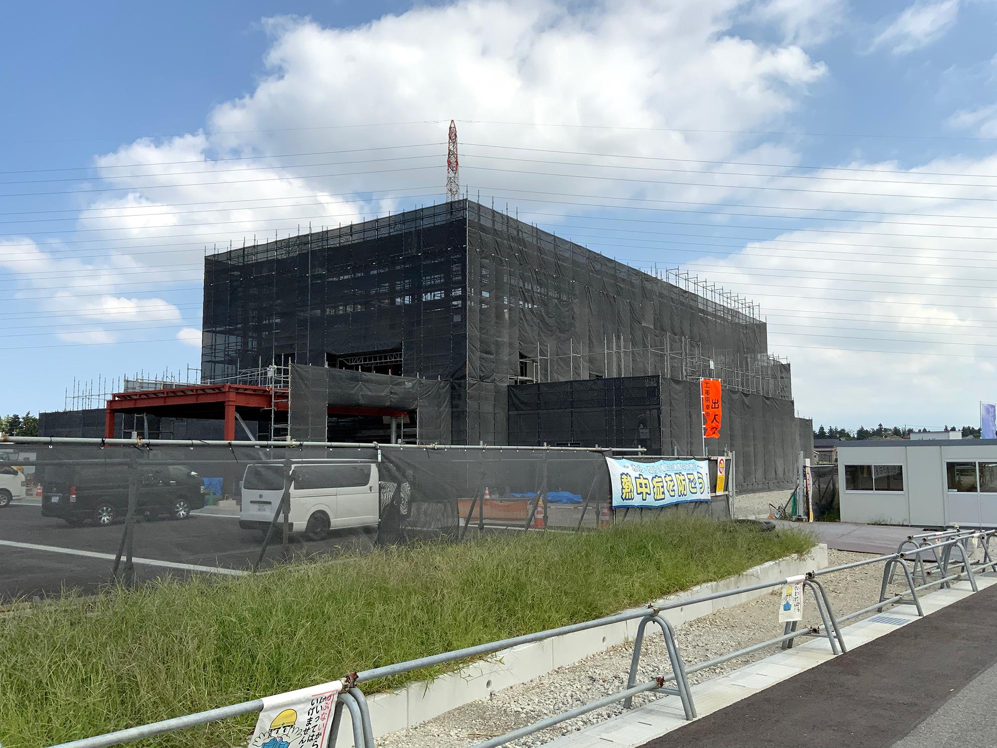 桜井病院移転新築工事の現場