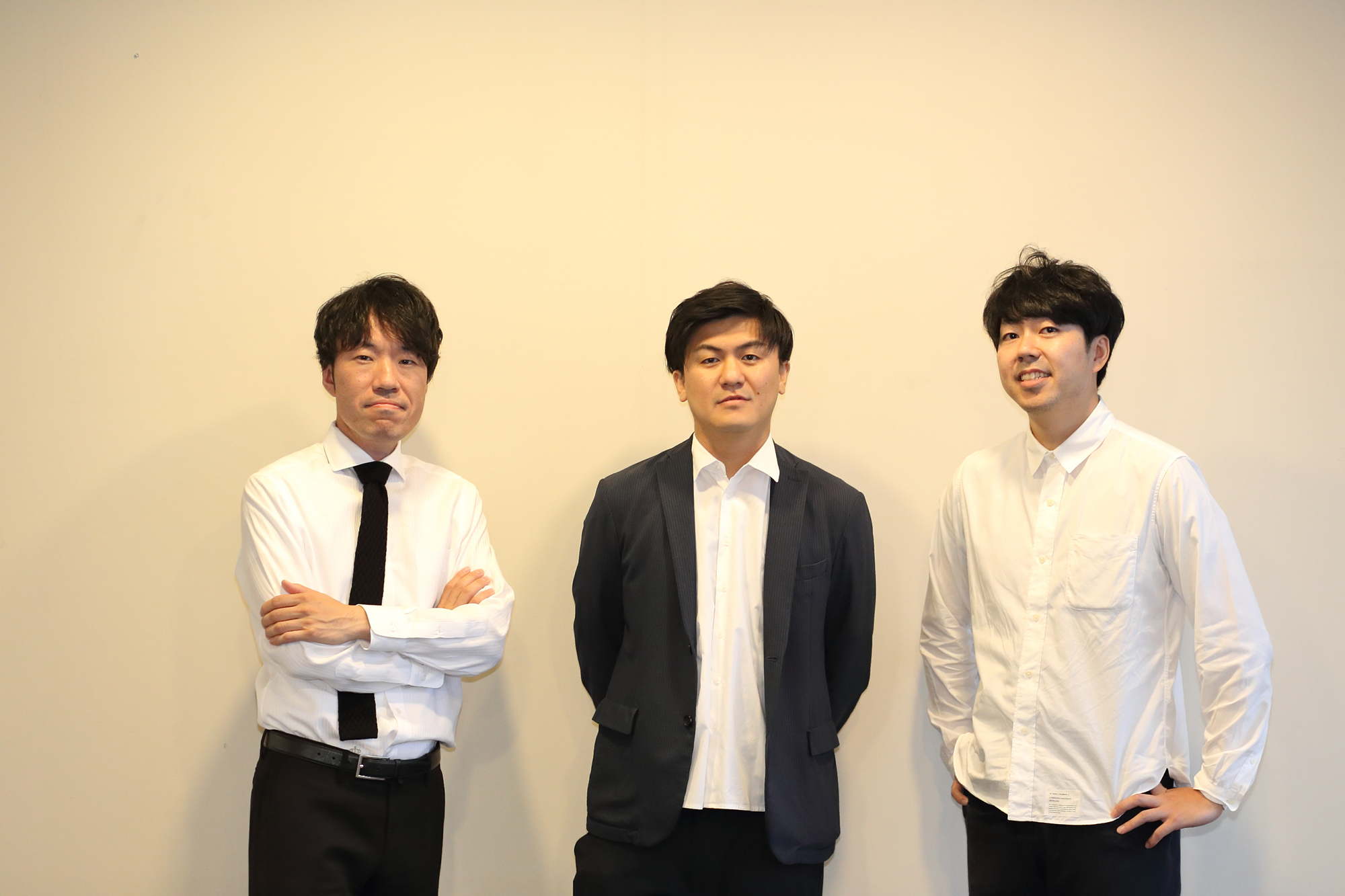 dot studioのメンバー。増山さん(左)、沼さん(中央)、上野さん(右)