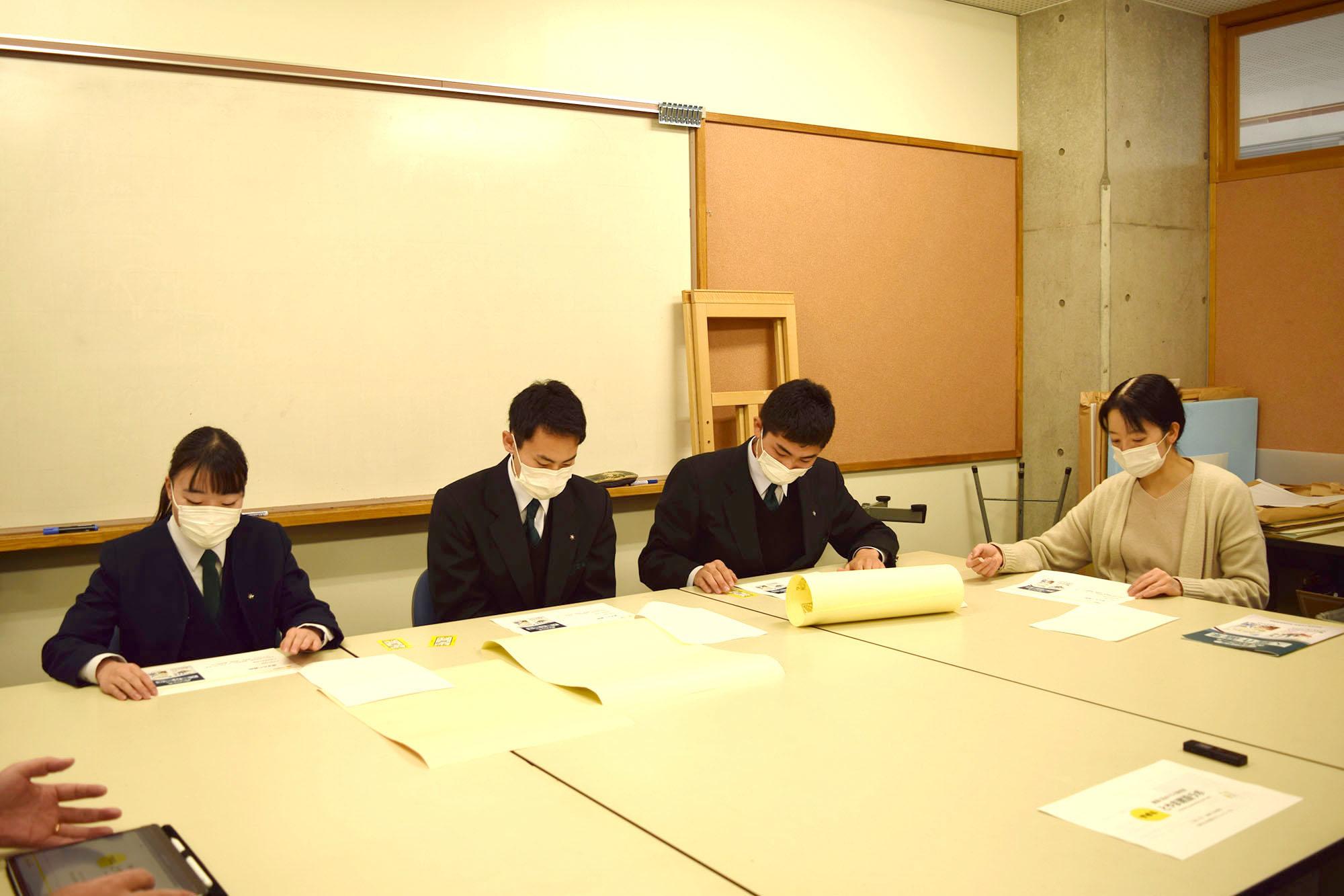 建築科の井村科長先生、渋谷先生も同席してくれました
